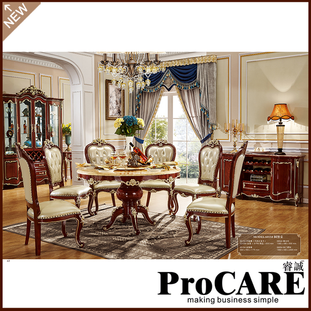 4Pcs Dining Room Set Furniture Unique Design Brand And High Quality Carving  Style Dining Table Set