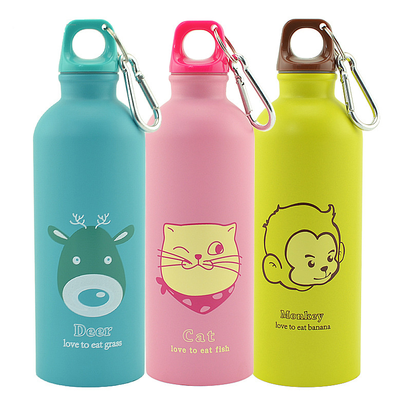 Stainless Steel New 500ml Bottle Animals Portable Outdoor Sports Cycling Camping Bicycle School Kids Water Bottle Outdoor-in Water Bottles from Home & Garden on AliExpress