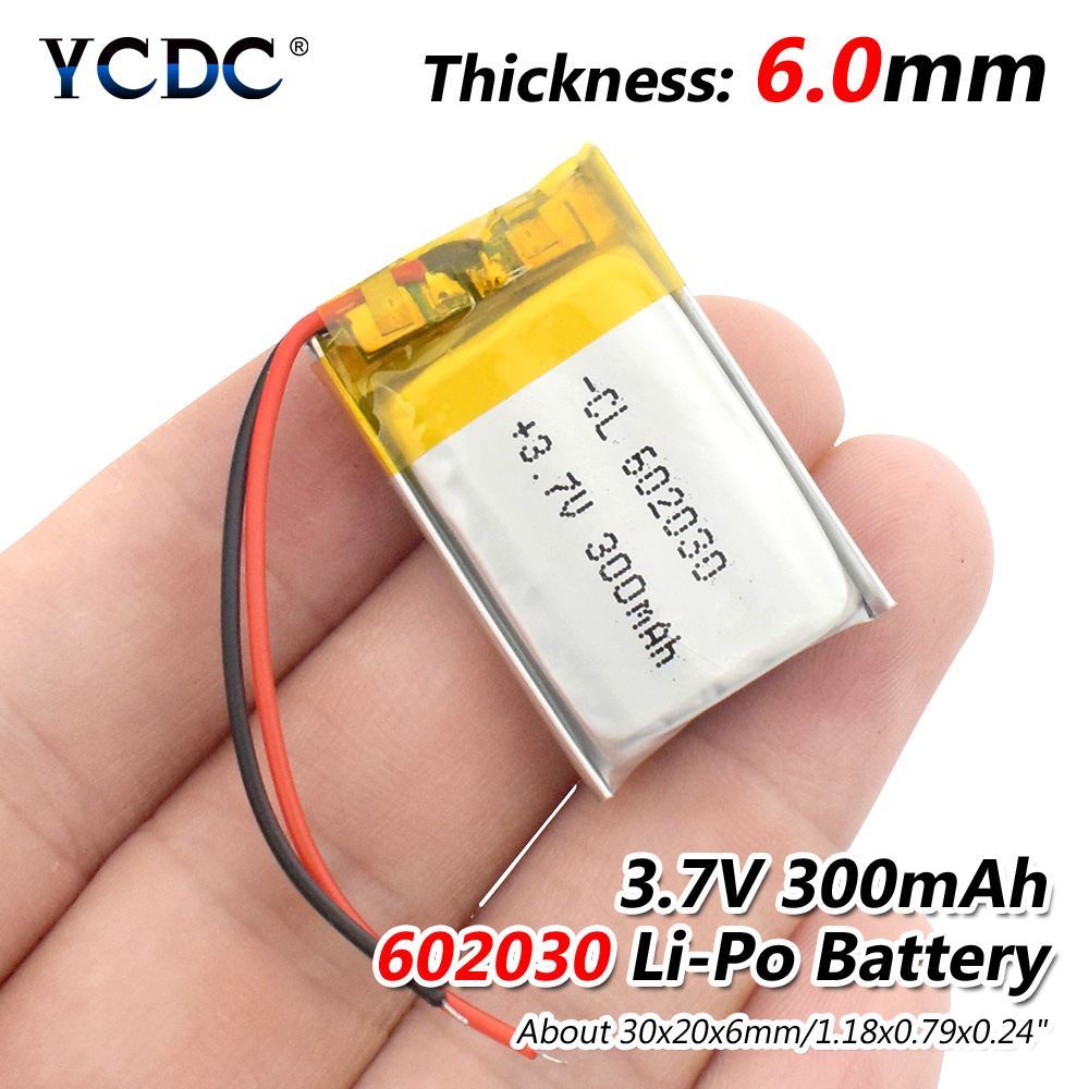 3.7V 300mAh 602030 Lithium Polymer Li-Po li ion Rechargeable Battery Lipo cells For Bluetooth speaker Tachograph Car DVR Camera new product alibaba china 300mah 402535 3 7v li polymer battery