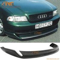 Fits 96 01 Audi A4 Black Front Bumper Lip Spoiler Bodykit Type O Styel PU