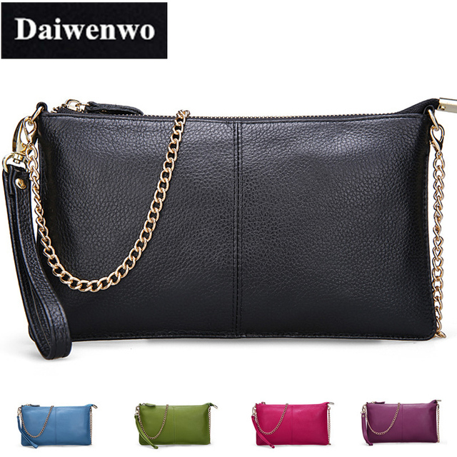 J42 New Fashion Zipper Small Women Genuine Leather Handbag Clutch Chain Mini Messenger Bags for Female Shoulder Money Phone Bags