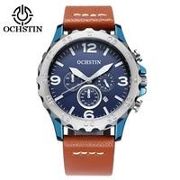 Casual Fashion Men Watches Luxury Brand High Quality OCHSTIN Leather Strap Men Quartz Wristwatch Relogios Masculino