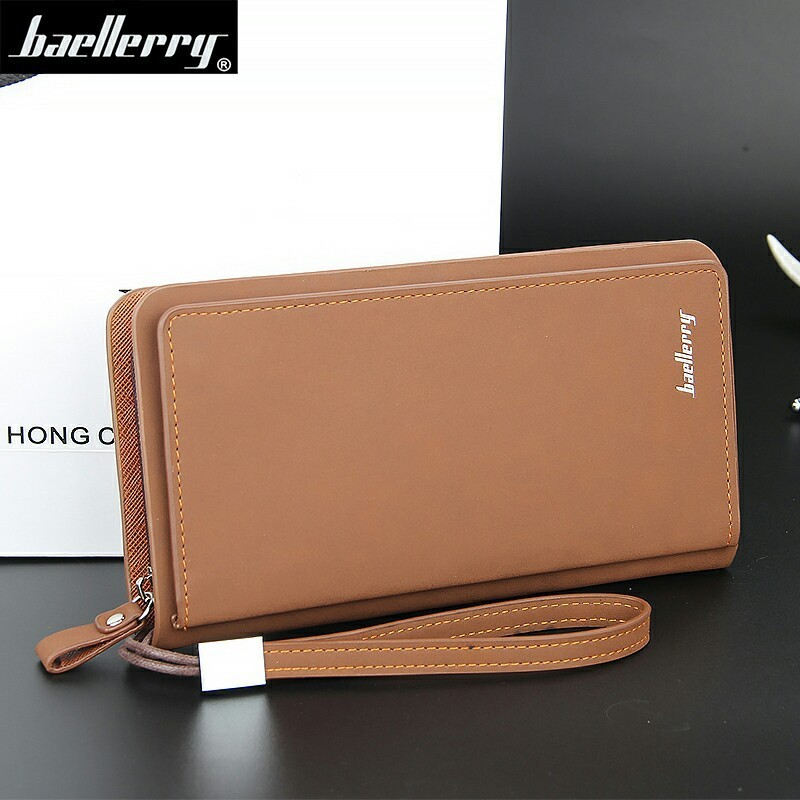 Fashion New Casual Men Wallets Long Large Capacity MultiFunction Zipper Phone Package Bit Coffee Credit Card Holder Purse Wallet