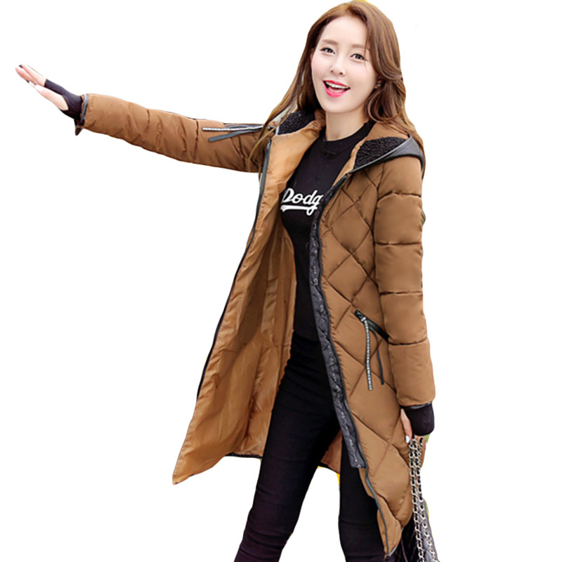 2017 new winter abrigos mujer long jacket coat female large size thick...