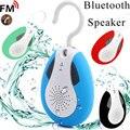 Mini Gancho de Colgar IP * 4 Impermeable Sin Hilos de Bluetooth de Manos Libres Portátil Ducha Baño Altavoz con Micrófono y Radio FM