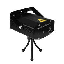 On sale Mini LED Laser Pointer Disco Stage Light Party Pattern Lighting Projector Show IR Remote RG Laser Projector Lights EU Plug