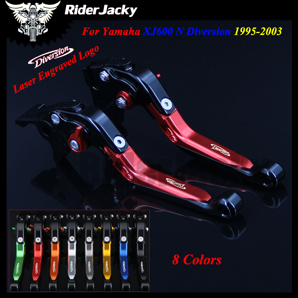 For Yamaha XJ600 N Diversion 1995-2003 1999 2000 2001 2002 Red+Black Motorcycle Accessories CNC Adjustable Brake Clutch Lever
