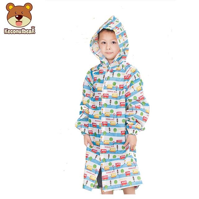6155f0fae Keconutbear 4-9 Years Old Kids Rain Coat Children Raincoat Rainwear Student  Waterproof Cute Car Raincoat Boys Girls Poncho