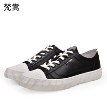 Spring Genuine Leather white shoes men casual Fashion shoes all-match cowhide men designer sneakers Leisure shoes autumn summer men casual shoes 3d print shoes high top black white mix color comfortable cool all match genuine leather autumn winter shoes