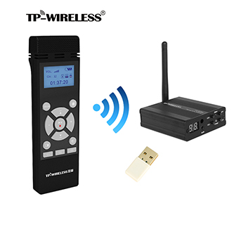 TP-WIRELESS 2.4GHz wireless microfon portabil și sistem de recepție - Audio și video portabile