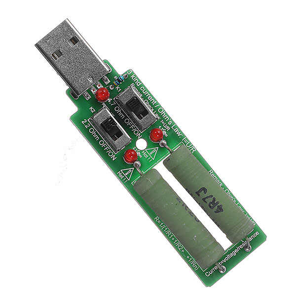2 Switch USB Aging Discharge Loader 3 Kinds Current Test Load Power Resistor Test For Power Bank Cell Phone Charger 5V 10W