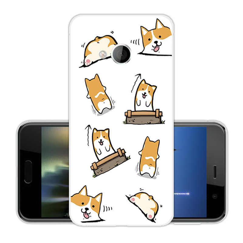 用htc uプレイhtcアルパインケース柔らかいシリコーン透明tpuスターバックカバー超薄型fundasためhtc uプレイ電話ケース