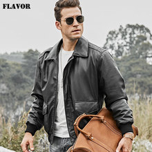 FLAVOR Air Force Genuine Leather Jacket