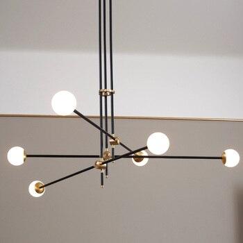 포스트 모던 매직 콩 램프 펜던트 라이트 북유럽 현대 간략한 dna 램프 크리 에이 티브 철 유리 매달려 램프 유리 공 광택