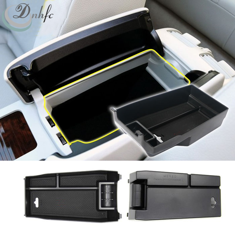 plastic central store content box car accessories for mercedes benz c class c200 c260 c300 w204. Black Bedroom Furniture Sets. Home Design Ideas