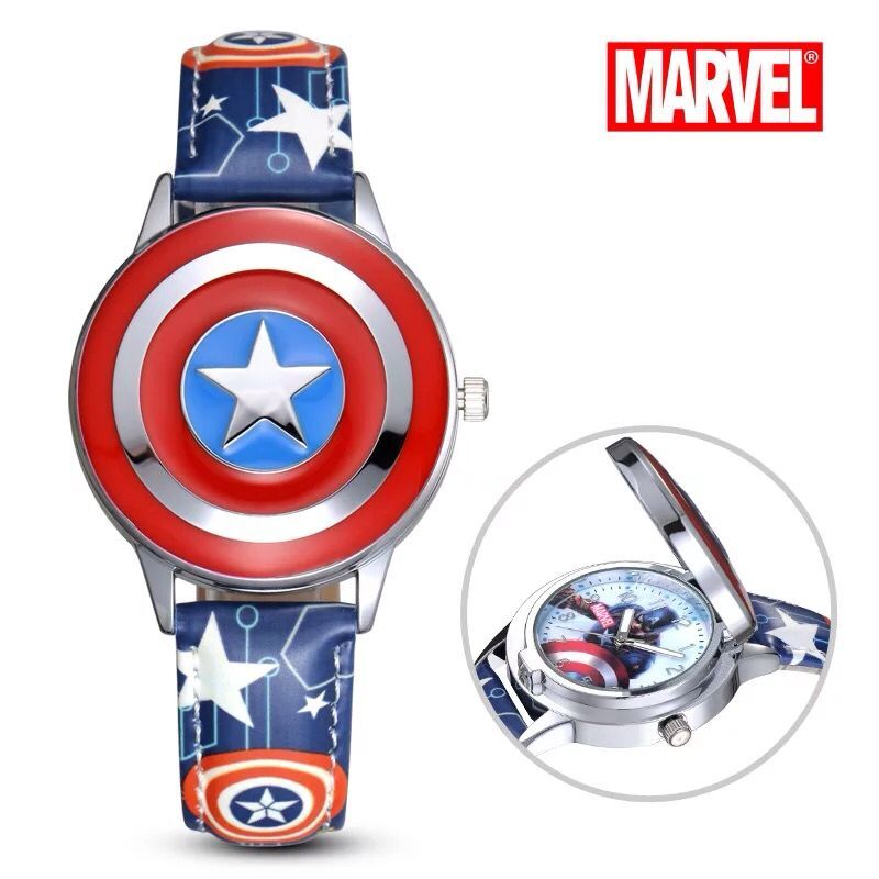 New MARVEL Kids Boy Watches Children's Watches Avengers Captain America Spiderman Superhero Luminous Fashion Simple And Cool