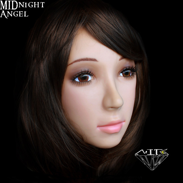 Sh 19 Midnight Angel Cross Dressing Halloween Female Mask Gay Full Face Half Head Realistic Mask Sexy Sissy Boy Free Shipping In Party Masks From Home