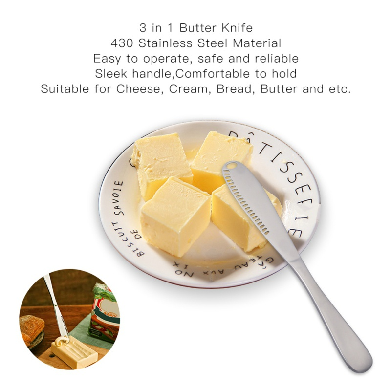 Stainless Steel Butter <font><b>Knife</b></font> Cream <font><b>Knife</b></font> Western Bread Jam <font><b>Knife</b></font> <font><b>Cheese</b></font> <font><b>Knife</b></font> (<font><b>Black</b></font>) image