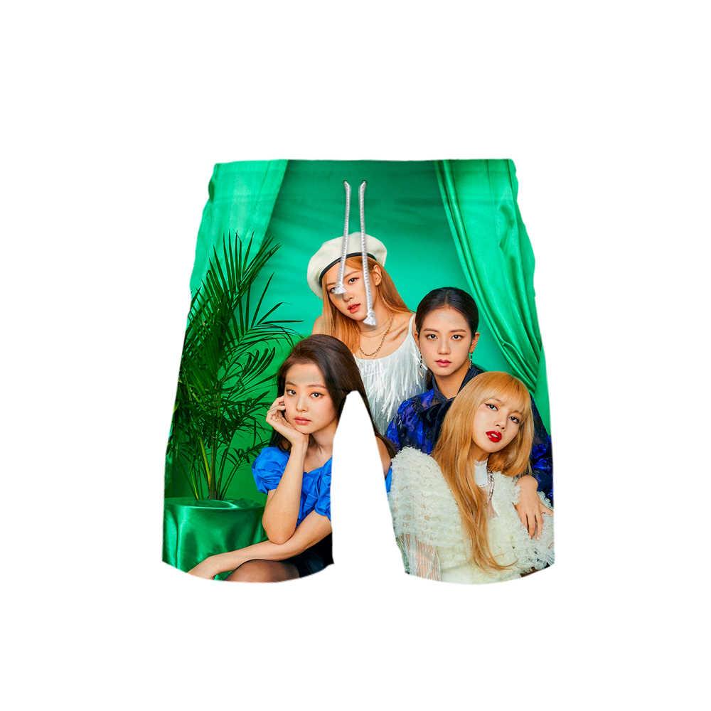 2019 Blackpink Idol 3D print Casual shorts Basic Street Zomer Koreaanse shorts Sport Kpop Shorts Moletom man broek Hipster