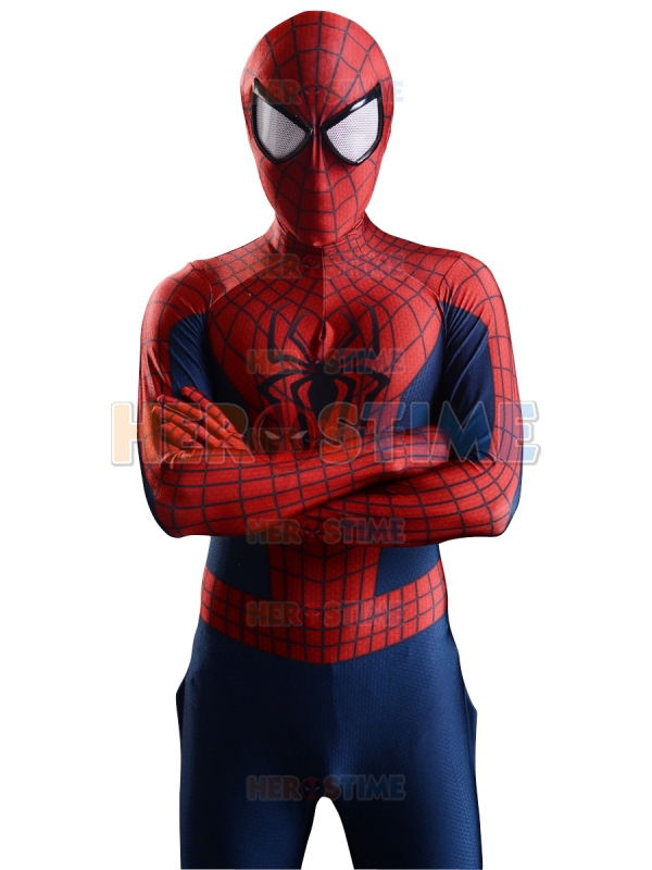 2015 3d printing new the amazing spider man 2 font b superhero b font costume fullbody