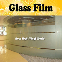 Privacy Frosted Glass Film Decorative Vinyl Frosted Window Film Self Adhesive Vinyl For Office Home Bathroom Size:90CM*50M/Roll
