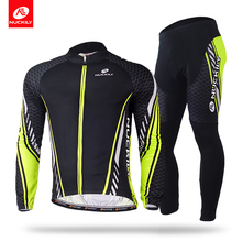 Nuckily winter mens new design fleece long cycling clothing set  ME015MF015