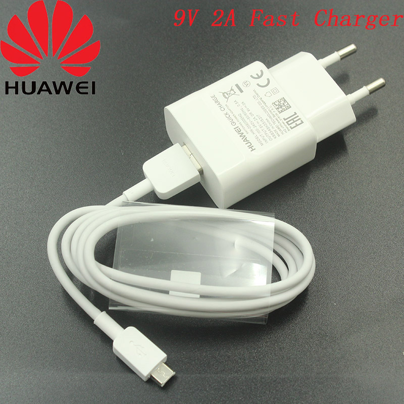 Original Huawei 9v 2a Usb Fast Charger Adapter 100cm Micro
