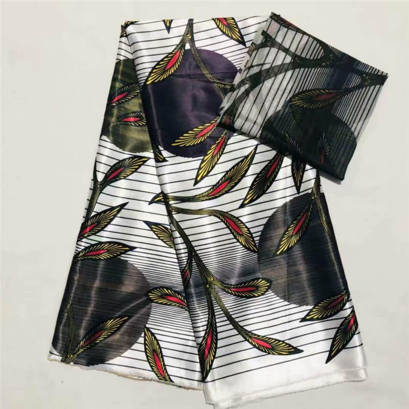 DF! haute qualité africain cire impression tissu marque Stretch Satin soie tissu tissu soie offre spéciale en gros 4 + 2 yards/lot! L61890