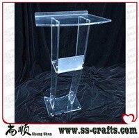Alta Solidez Design Moderno Barato Púlpito de Acrílico Transparente
