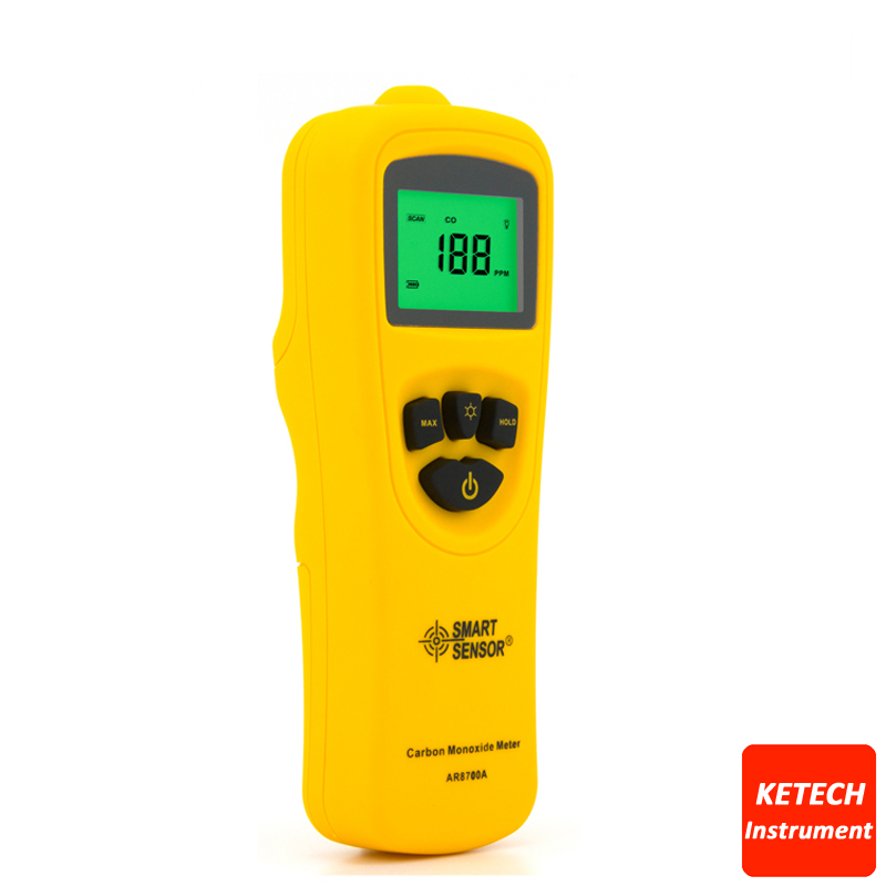 AR8700A Digital Carbon Monoxide Meter CO Monitor Gas Tester Detector digital indoor air quality carbon dioxide meter temperature rh humidity twa stel display 99 points made in taiwan co2 monitor