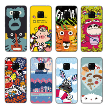 RIGTFKY Cartoon Patten Cases For Huawei Mate 20 Lite Case Brown Naked Bear Pro Soft Silicagel TPU Back Cover