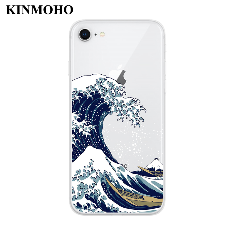 Maiyaca Hokusai The Great Wave Off Kanagawa Pictures Novelty Fundas Phone Case Cover For Iphone 8 7 6 6s Plus X Xs Max 55s Se Xr Half-wrapped Case Phone Bags & Cases