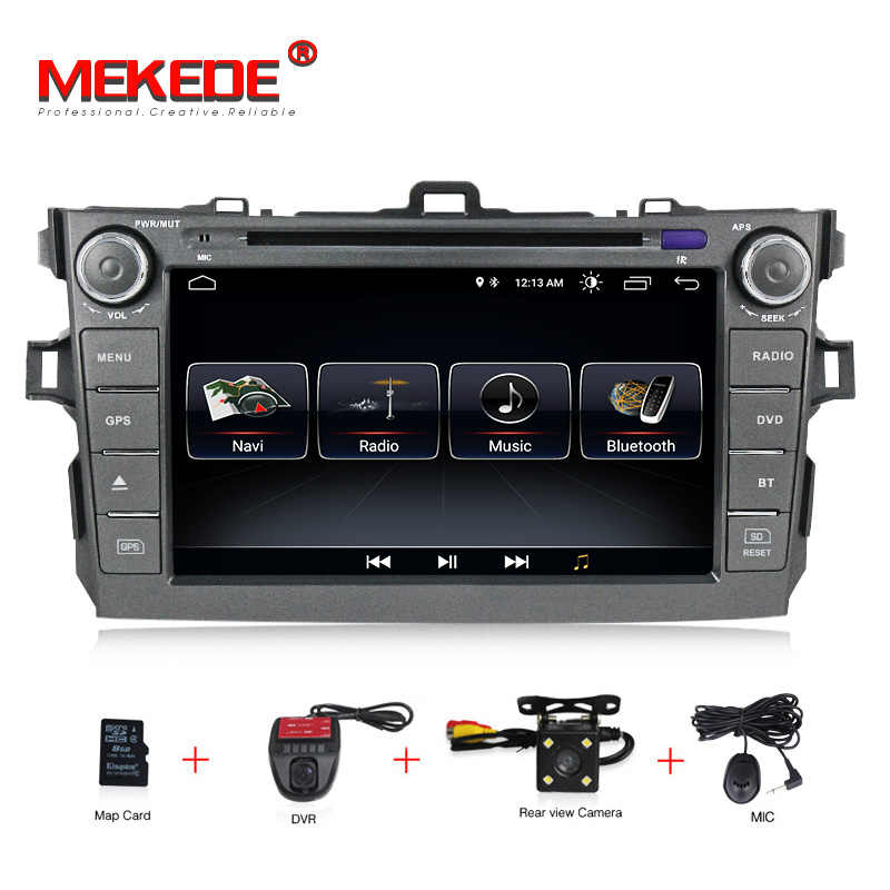 MEKEDE Quad core Android8.1 Car multimedia player for toyota corolla 2007 2008 2009 2010 2011 support gps navigator dvd player