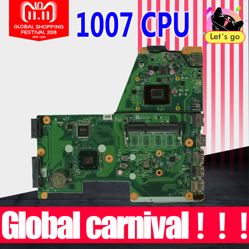 X451CA Motherboard REV:2.0 1007 CPU For ASUS X451C F451 F451C laptop Motherboard X451CA Mainboard X451CA Mainboard test 100%OK m50s mainboard rev 2 0 for asus m50s m50sv laptop motherboard pm965 100