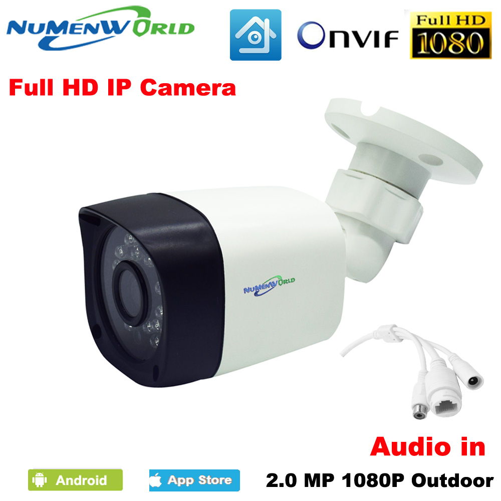 Good Waterproof HD IP camera 1080P CCTV Security IP cam network Video camera Outdoor with Audio in support PC mobile remote view