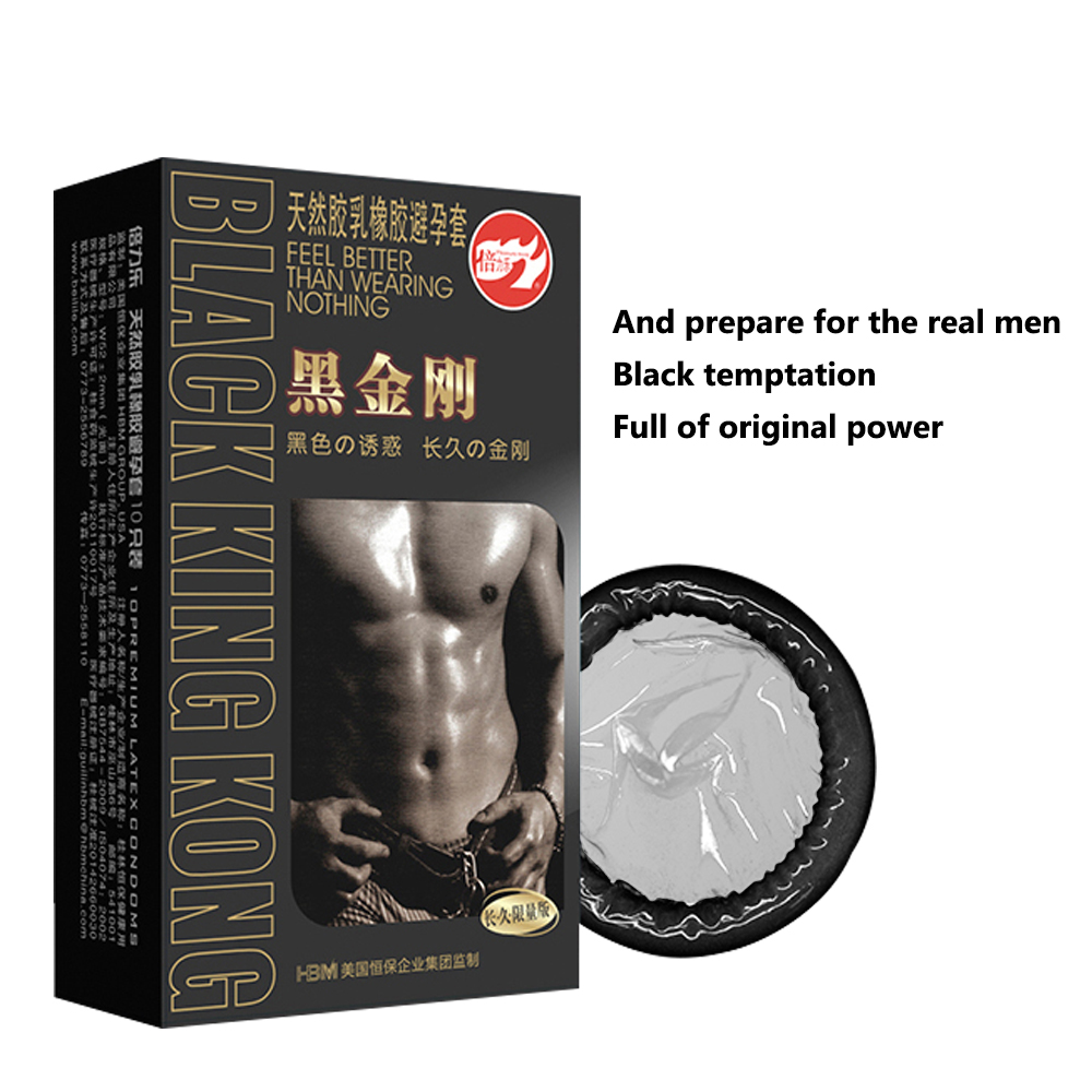 10pcs Black Durable Condoms Ultra Thin Penis Sleeve Long lasting Natural Latex Lubricated Condoms Men Contraception Sex Products musiland 01us mark2 usb hifi external sound card hardware decoding dsd support 32bit 384khz