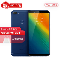 Global Version Lenovo K9 Note 4GB 64GB Smartphone Snapdragon 450 Octa Core 6 Inch Displya Face ID 16MP Camera 3760mAh Battery Lenovo Phones
