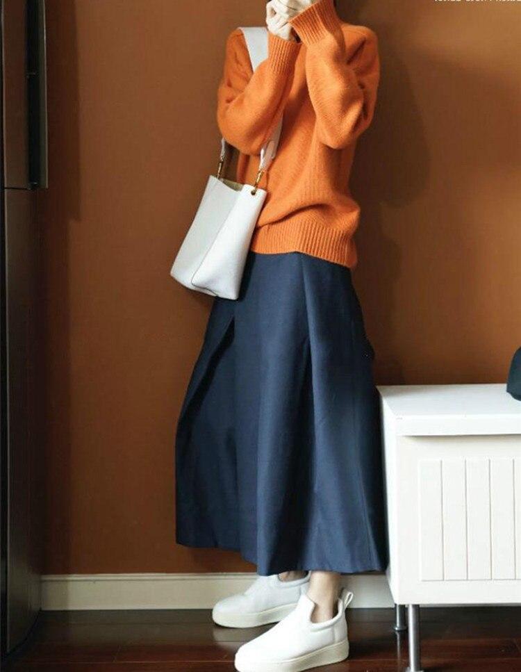 Nouvelles Les Hiver Orange Pour Femmes Pur Col Roulé Épaissi Cachemire En Paresseux Lâche 2018 À Pull Tricoté TqdwpawEx