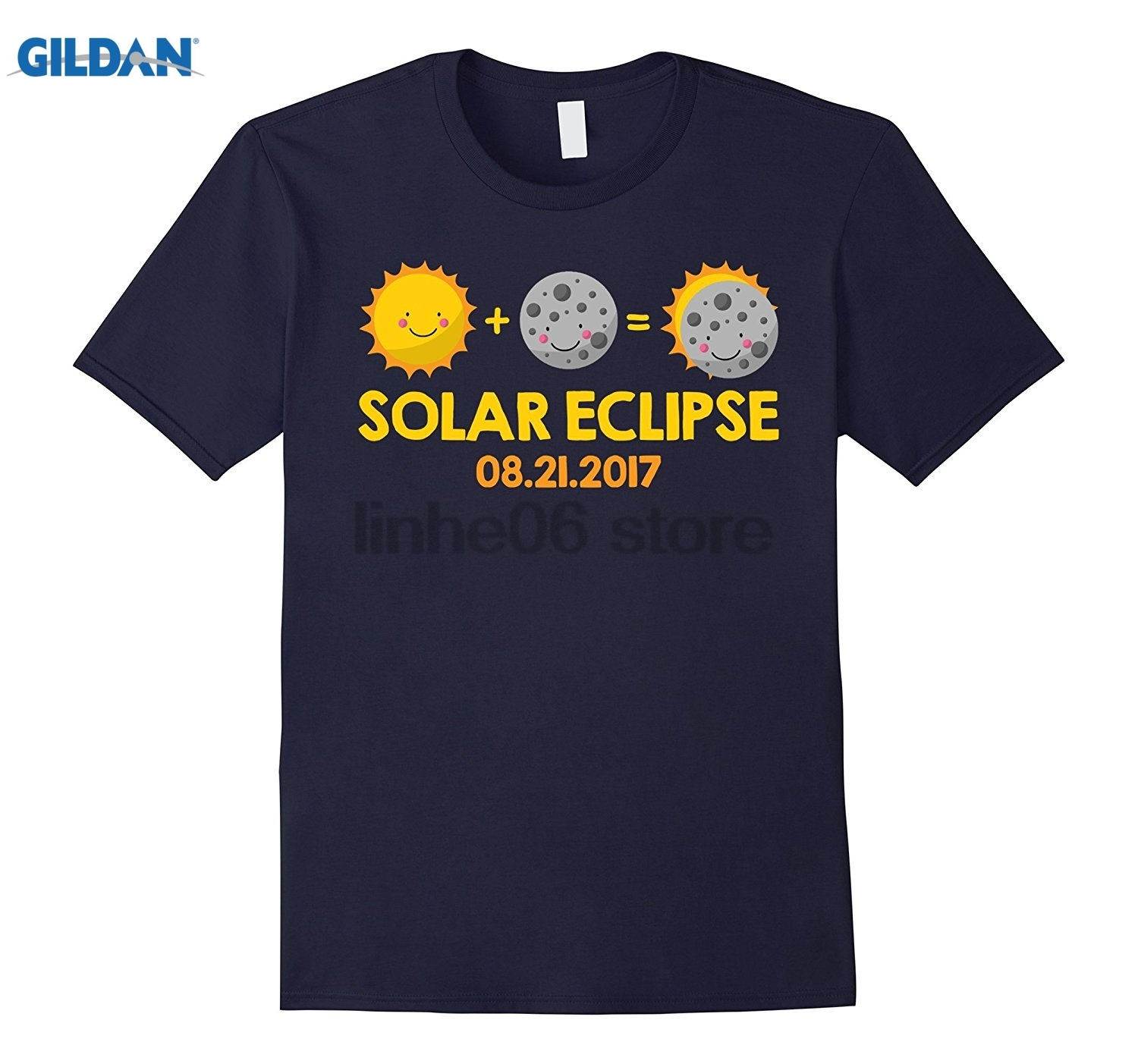 GILDAN Cartoon Solar Eclipse August 21 2017 T-shirt Mothers Day Ms. T-shirt