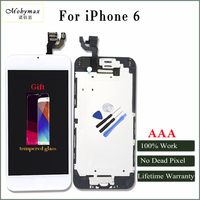 Mobymax AAA All Test work well lcd pantalla for iphone 6 6s full assembly frame+front camera with gifts