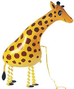 Cute Big Walking Giraffe Mylar Foil Balloon Orbs Zoo Jungle Party Decoration Kids Children Favours Room Animal Inflatable Balls Ballons & Accessories