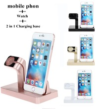 Desktop holder phone exclusive sales for Apple iphone x 8 7 6 6 plus mobile support watch charging base High-grade plastic Stand the new listing of the exclusive sales of apple mobile phone support iwatch watch charging base high grade plastic free shipping