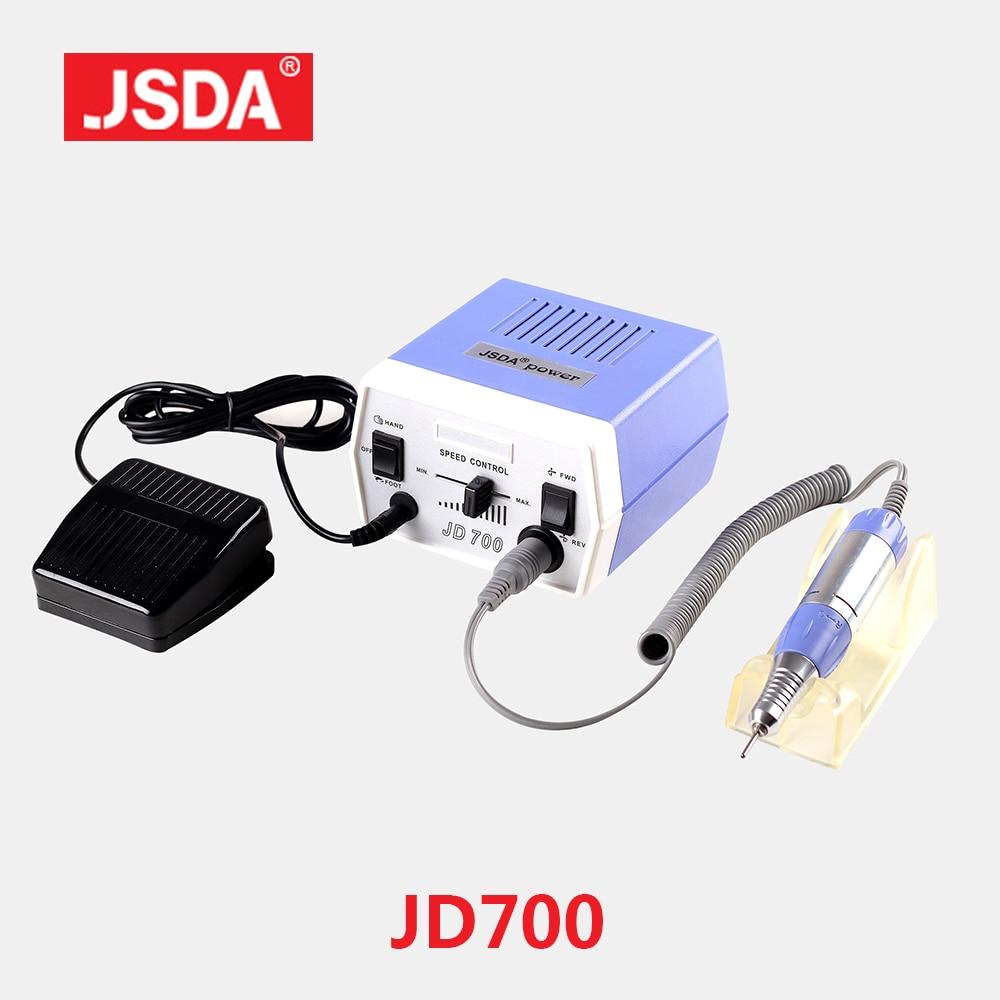 FreeShipping JSDA JD700 35W Nail Gel Polish Drill Bits Tools Electric Polisher Machine For Manicure Pedicure Nails Art Equipment