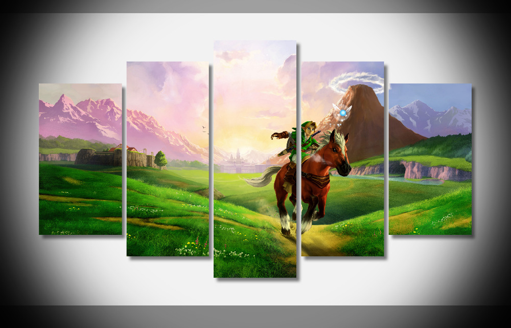 Zelda Wall Decoration : P legend of zelda nintendo poster print on canvas wall