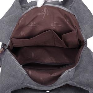 Image 5 - Sacs à main en toile Hobos pour femmes, sacoche de bonne qualité à épaule solide Vintage multi poches, fourre tout pour dames
