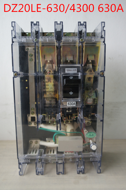 Earth leakage circuit breaker DZ20LE-630/4300 630A