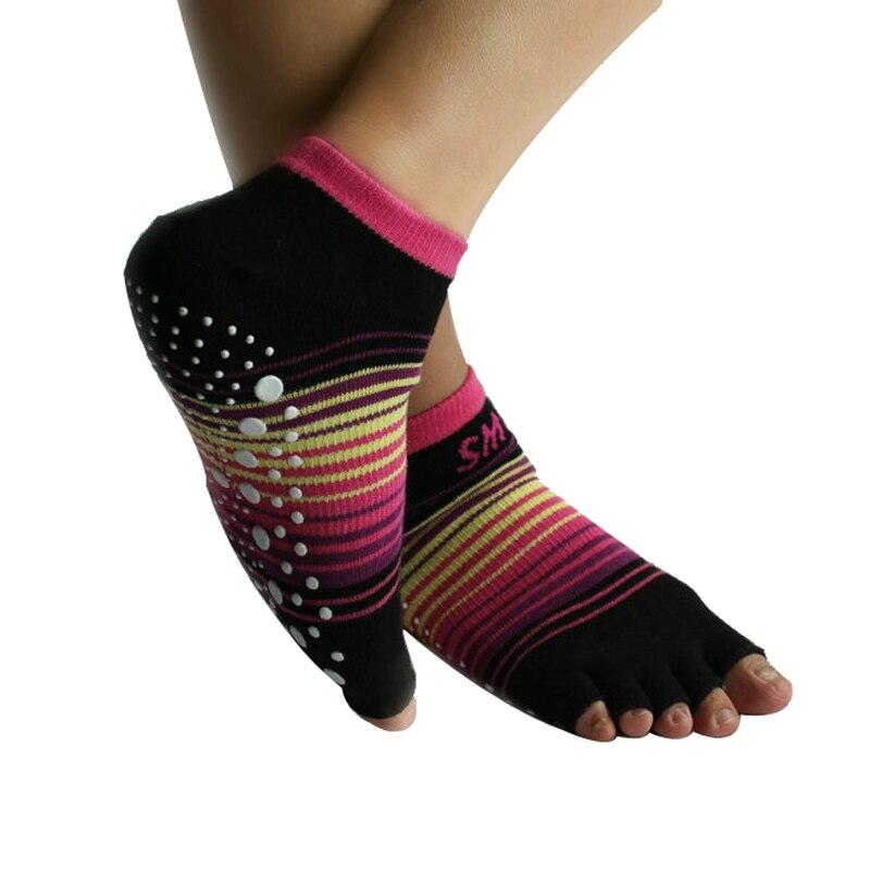 Yrke Antiskid Yoga Strumpor för kvinnor Gummipriser Sport Träningsstrumpor Gym Dans Sportstrumpor Halkskydd Massage Träningsstrumpor