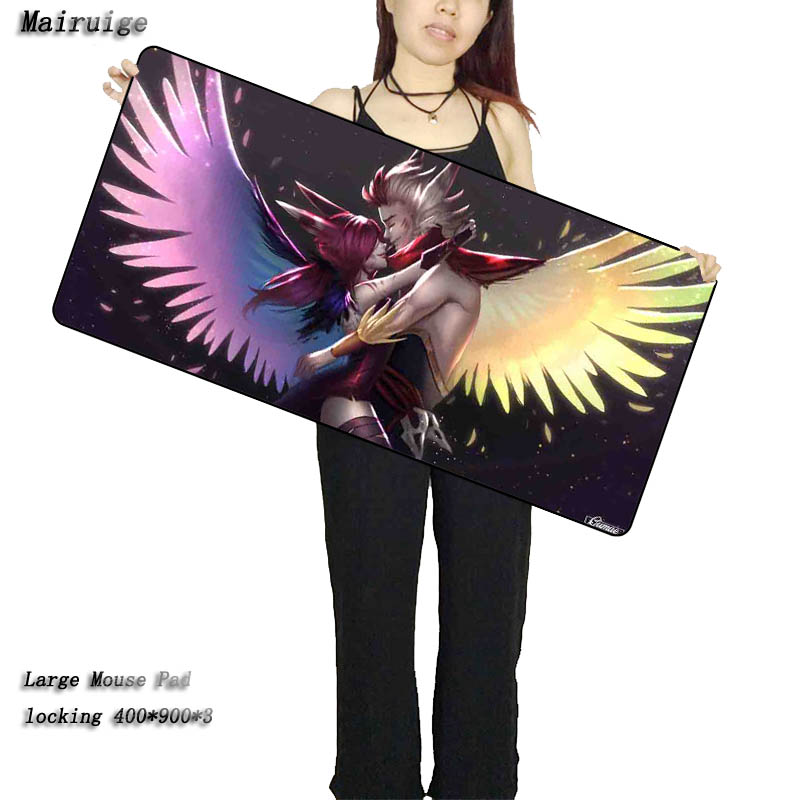 Mairuige Large Gaming Mouse Pad for Gamer Table Laptop Mouse Mats Non-slip Lock Edge Game Mousepads for  League of Legends LOL