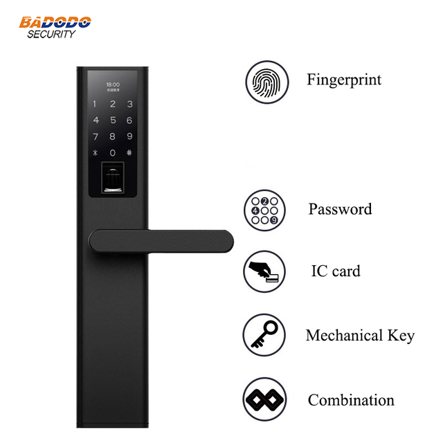 Intelligent Fingerprint door Lock Digital Electronic Door Lock For Home Anti-theft semiconductor reader Biometric electric lock