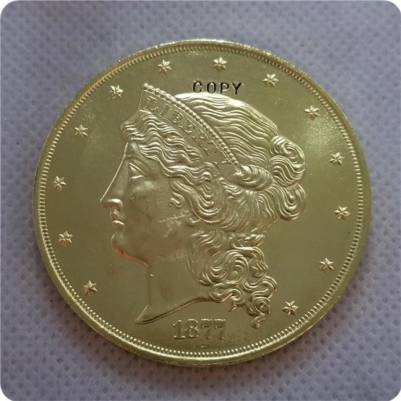 CÓPIA RÉPLICA EUA 1877 $50 Padrões de Cinqüenta Dólares COIN COPY FRETE GRÁTIS